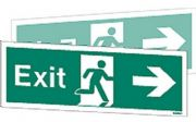 W405DST - DOUBLE-SIDED EXIT SIGN RIGHT OR LEFT wp 120 x  340mm